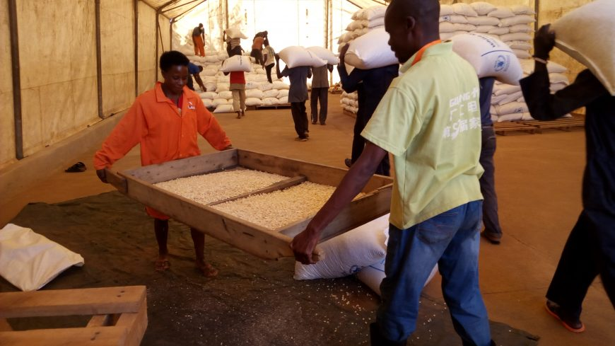 WFP WARE HOUSES UNDER CAFOMI MANAGEMENT FLAG OFF FOOD DISTRIBUTIONS TO SETTLEMENTS