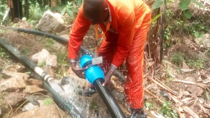 CAFOMI wash team embark on repairing water transmission pipeline in Bubukwanga to boost water supply